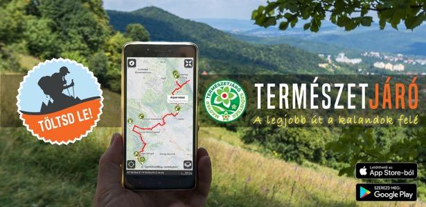 Természetjáró applikáció: letölthető Magyarország első online térképes útikalauz szolgáltatása
